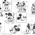 102712 Mickey and Minnie Sketch tapetes