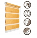 18 Roller blinds D&N / orange