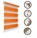 24 Roller blinds D&N / orange